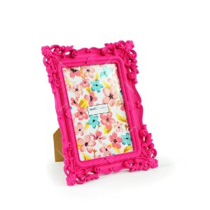 Porta Retrato Rococó Rosa 13x18
