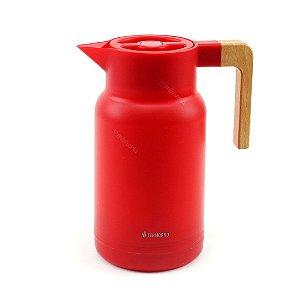 Garrafa Térmica Wood Fashion Vermelha 1 Litro