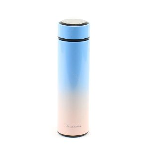 Garrafa Térmica de Inox com Infusor Tie Dye Azul e Rosê 500 ml