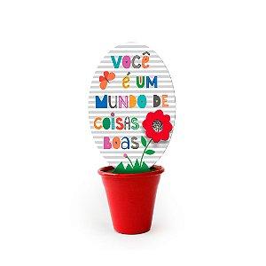 Mini Vaso Frases Coloridas