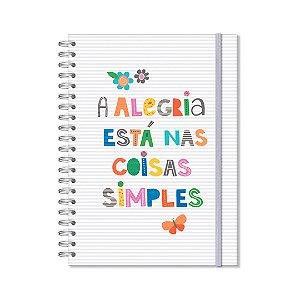Caderno Universitário 96 Folhas Frases Coloridas