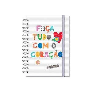 Caderno Pontilhado Frases Coloridas