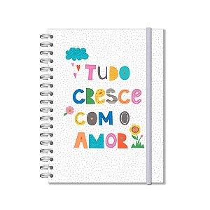 Caderno Colegial 200 Folhas Frases Coloridas