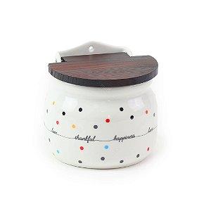 Saleiro de Porcelana para Parede Mini Dots