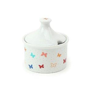 Açucareiro de Porcelana Borboleta