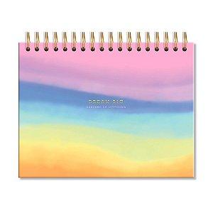 Caderno de Lettering Folhas Pretas Tie Dye