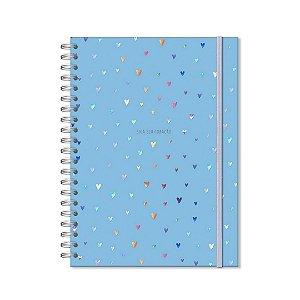 Caderno Universitário 96 Folhas Corações Holográficos