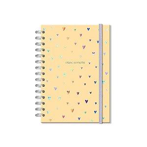 Caderno Pontilhado Corações Holográficos