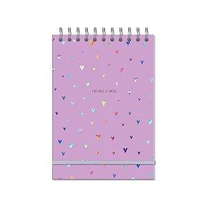 Caderno de Ideias Corações Holográficos