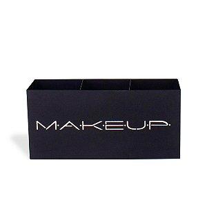Suporte de Maquiagem em Aço Trio Makeup em Aço Areia