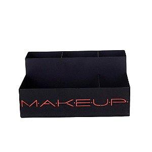 Organizador de Maquiagem em Aço Makeup Terracota