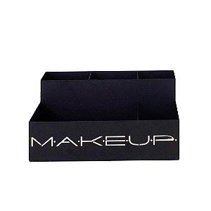 Organizador de Maquiagem em Aço Makeup Areia