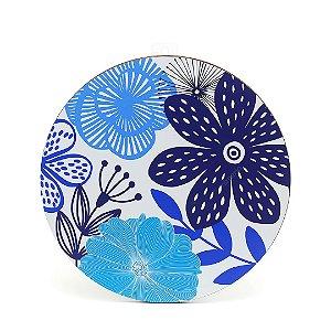 Quadro Floral Azul Grande