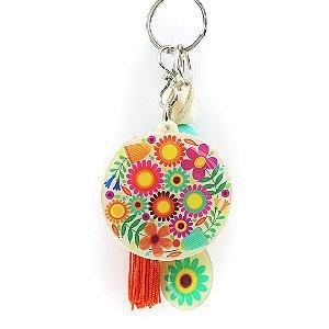 Chaveiro Floral Colorido