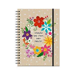 Caderno Universitário Decorado Flora 100 folhas