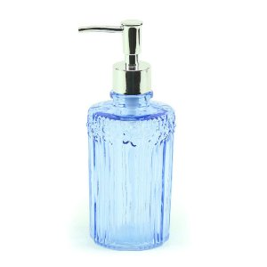 Porta Sabonete Liquído em Vidro Flores da Primavera Azul