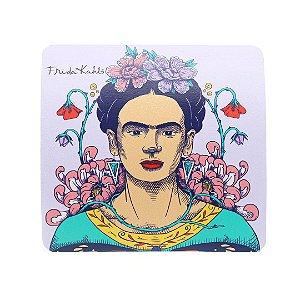 Mouse Pad Frida Kahlo e Flores de Maracujá