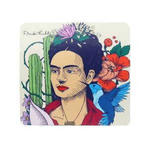 Mouse Pad Frida Kahlo Cacto e Flor