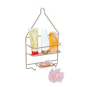 Suporte para Shampoo e Sabonete em Rose Gold