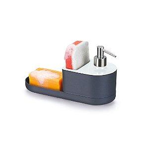 Dispenser para Detergente, Sabão e Bucha Branco