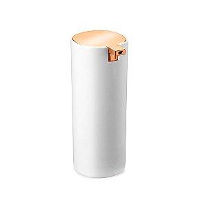 Dispenser para Detergente Branco com Rose Gold Conceito