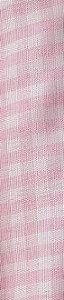 Tecido 100% Poliéster Xadrez P Rosa Bebê