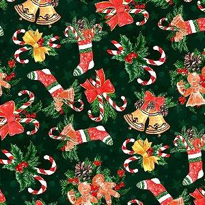 Tecido Tricoline 100% Algodão Natal Digital - 089