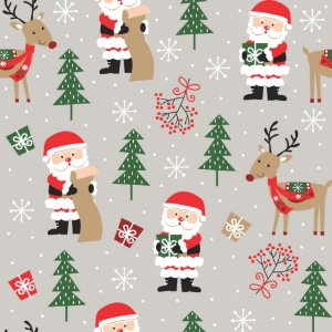 Tecido Tricoline 100% Algodão Natal Comum - 7122-01