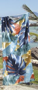 Toalha de Praia Velour AF-958 Estampada Döhler 76X152 cm - Tropical 03
