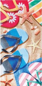 Toalha de Praia Velour AF-958 Estampada Döhler 76X152 cm - Sandals