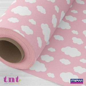TNT Estampado - Nuvem Rosa - 100x140cm