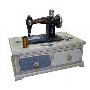Mini Máquina de Costura Com 2 Gavetas - REF SD13246