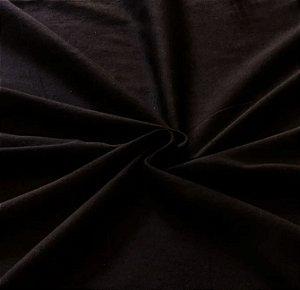 Tecido Tricoline Liso Preto - 100% Algodão - 1,00x1,50m