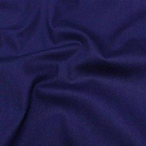 Tecido Tricoline Liso Azul Marinho - 100% Algodão - 1,00x1,50m