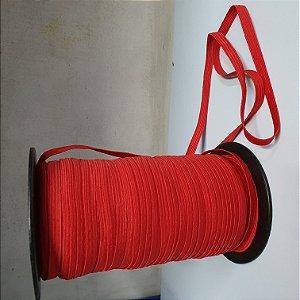 Elástico Chato 8 mm Vermelho a Metro