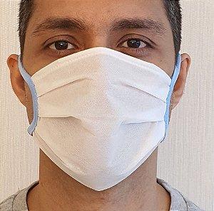 Máscara Respiratória de TNT Dupla Descartável - Pacote Com 5 Unidades