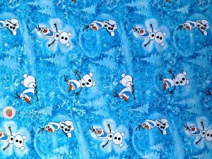 Tecido Tricoline Frozen - Olaf - 50x110cm - 100% algodão