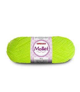 Lã Mollet 40g Cor - 780 - AMARELO NEON