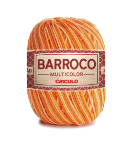 Barbante Barroco Multicolor N.6 200g Cor 9059 - ABÓBORA