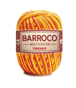 Barbante Barroco Multicolor N.6 200g Cor 9165 - HIBISCO AMARELO