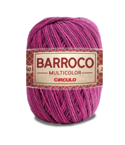 Barbante Barroco Multicolor N.6 200g Cor 9253 - MALBEC
