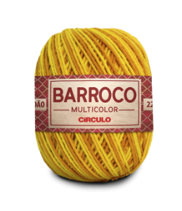 Barbante Barroco Multicolor N.6 200g Cor 9433 - ABACAXI