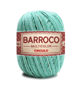 Barbante Barroco Multicolor N.6 200g Cor 9440 - QUARTZO VERDE
