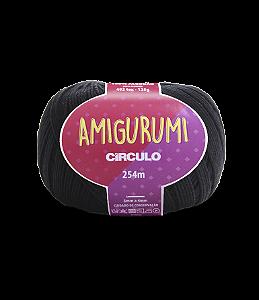 Fio Amigurumi 254m Círculo - Cor 8990 - PRETO