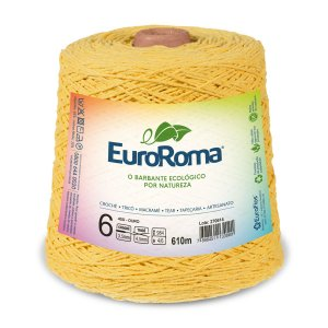Barbante Euroroma 6 600g - Amarelo Ouro - 450