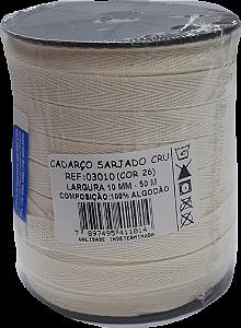 Cadarço Sarjado Algodão - São José - 10mm x 50m - Ref. 3010 Cru