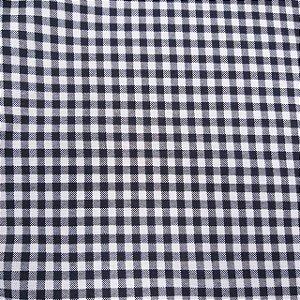 Tecido Tricoline Estampado Xadrez Preto 100% Algodão - COR 99 - 1,00x1,50m