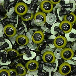 Olho Amigurumi Amarelo Tamanho 10 - Pacote Com 10 Pares