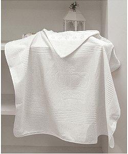 Toalha Com Capuz Para Bordar Dohler Baby Classic - 90 x 70 cm - Branco