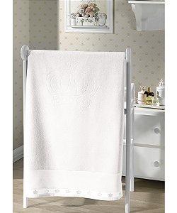 Toalha de Banho Para Bordar Dohler Baby Classic - 70 x 115 cm - Branco